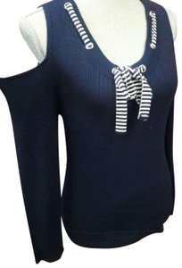 Lauren Michelle Cold Shoulder Nautical Knit Cold Shoulder Shirt Sellingcrazy Nautical Sweater