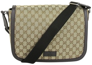 Gucci Gg Canvas Large Brown Messenger Bag