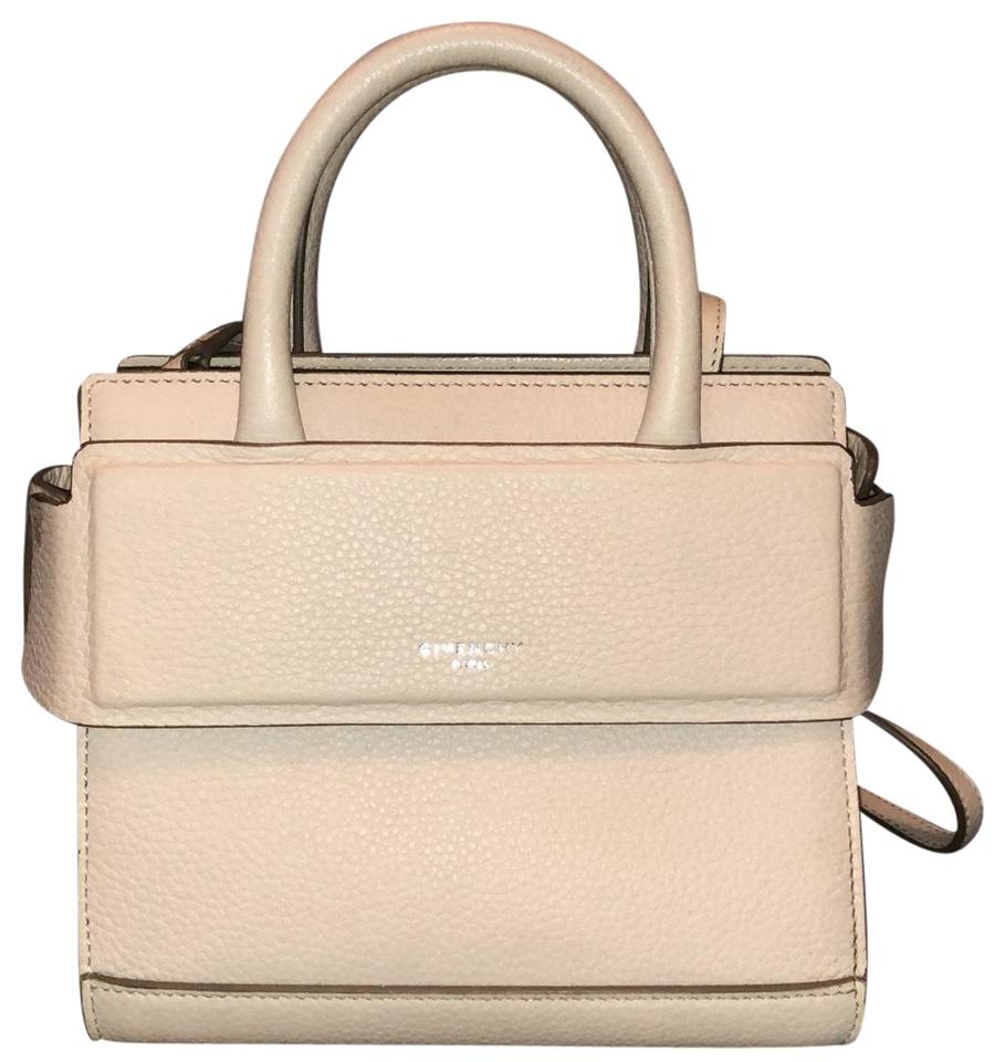 f1379af076 Givenchy Horizon Mini Grain Satchel Beige Pink Leather Cross Body ...