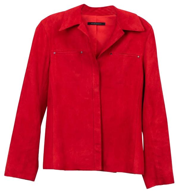 Item - Red Work Or Casual Jacket Size 4 (S)