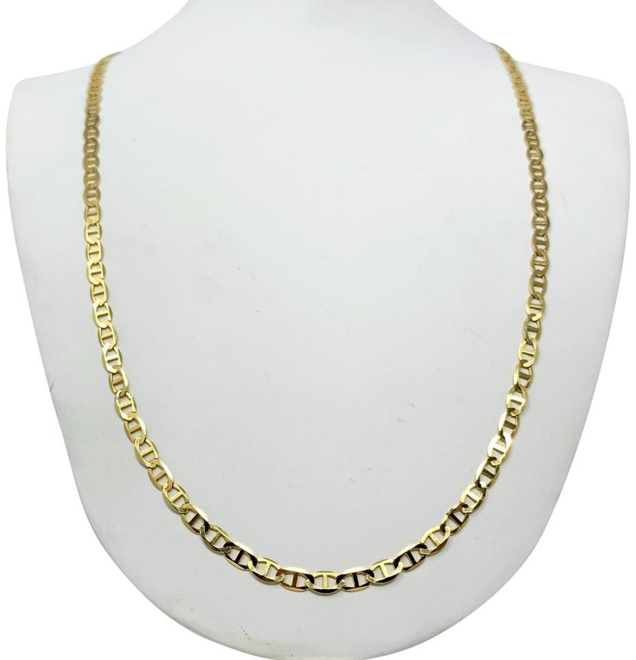 Gucci Link Chain >> 10k Yellow Gold 9g Mariner Anchor Gucci Link 4mm Chain 26 Necklace