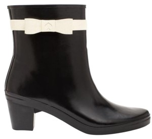 Kate Spade Designer Rainboots Bow Waterproof Black Boots
