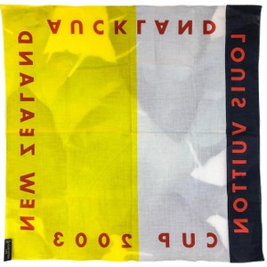 Louis Vuitton Louis Vuitton Yellow White 2003 New Zealand Cups Bandana Scarf SALE!