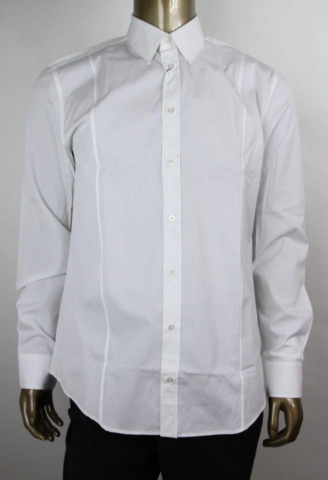5f95d6a52 Gucci White Men's Cotton Classic Dress 42/16.5 333759 21131 9000 Shirt  Image 0 ...