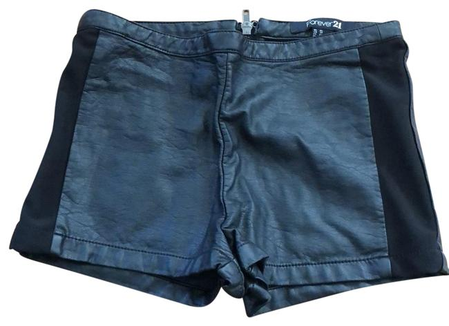 Forever 21 Black Faux Leather Shorts Size 2 (XS, 26) Forever 21 Black Faux Leather Shorts Size 2 (XS, 26) Image 1
