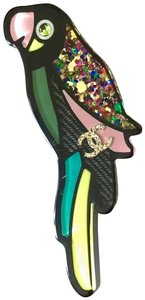 "Chanel ✿*゚2017 Paris-Cuba 3.5"" inches Handmade Parrot CC Pin Brooch"