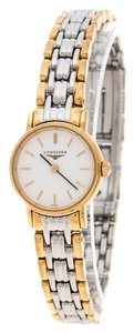 Longines White Gold Plated Stainless Steel Plaisance L4.219.2