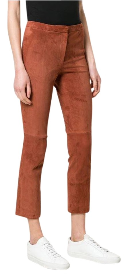 4c2fbb1c972 Theory Brown Russet Classic Suede Leather Stretch Hide I0200215 ...