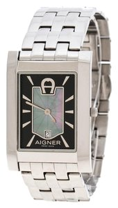 Etienne Aigner Black Mother of Pearl Stainless Steel BNIB A32122