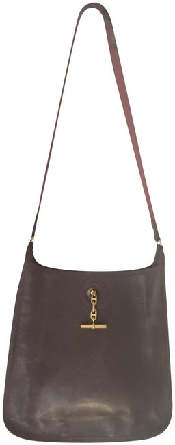 Item - Vespa Pm Deep with Gold Hardware Wine Red/Burgundy Leather Hobo Bag