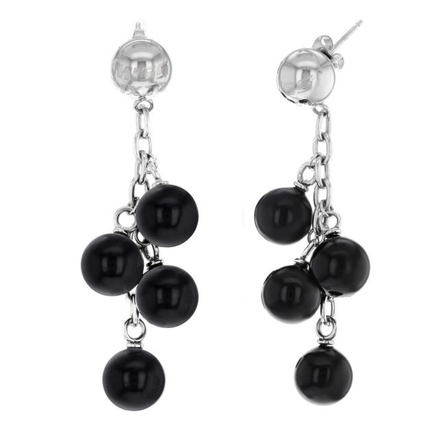 Miss Sixty Black Orecchini Stainless Steel & Plastic Dangle Earrings Miss Sixty Black Orecchini Stainless Steel & Plastic Dangle Earrings Image 2