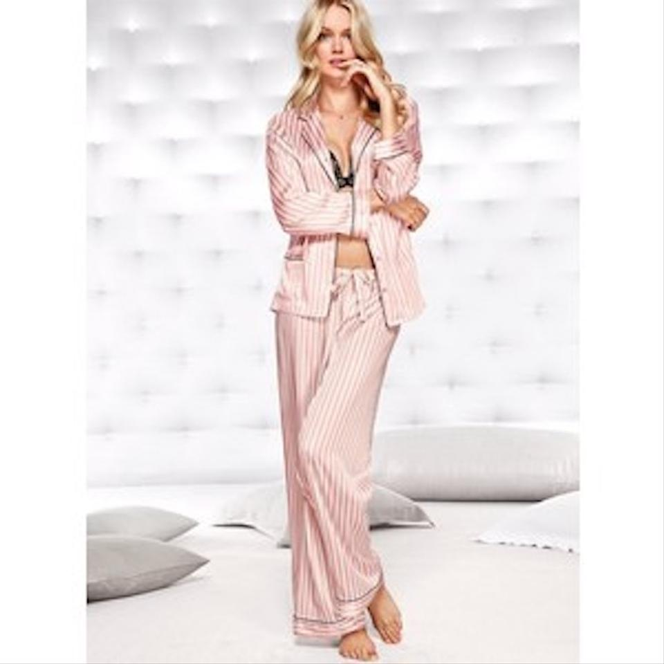 Victoria s Secret Pink The Afterhours Satin Pajama Set Button-down Top Size  8 (M) - Tradesy 286309681