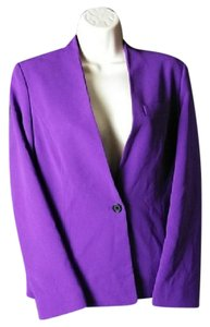 Peter Nygard Tailored 1-button Purple Blazer