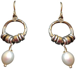 Shablool Silver Jewelry Design Shablool Sterling Silver Earrings with Freshwater Pearls