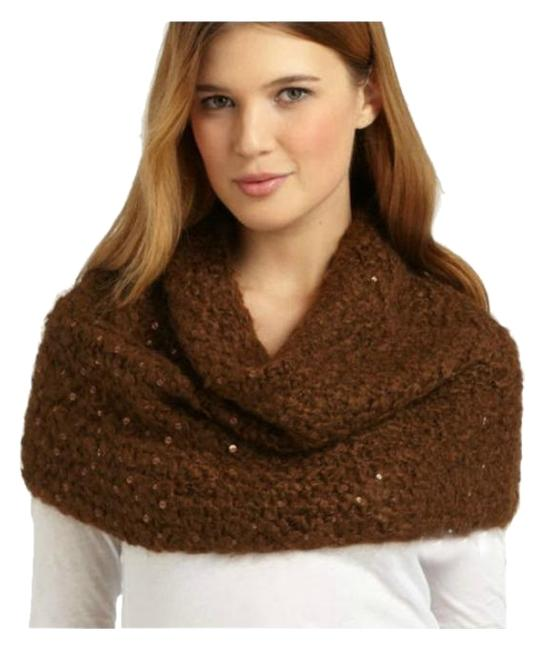 Item - Brown Infinity Washed Mohair Dream with Sequins Scarf/Wrap