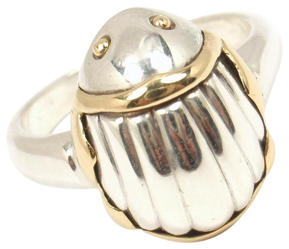 64f4f8235 Tiffany & Co. Vintage Sterling Silver 18K Gold Scarab Ring Image 0 ...