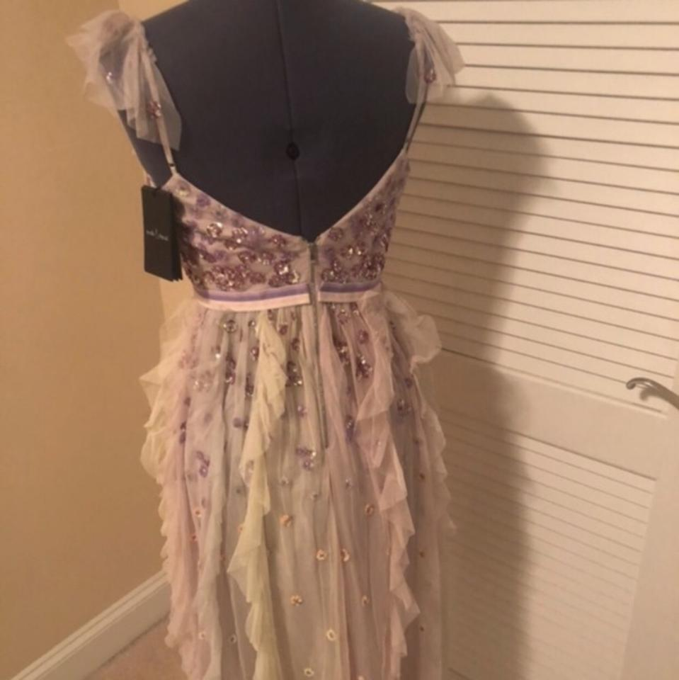 6d86d39c0270 Needle & Thread And Rainbow Embellished Ruffled Tulle Midi Mid-length  Cocktail Dress Size 8 (M) - Tradesy