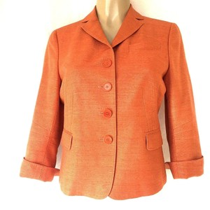 Akris Punto Blazer Textured Boucle Silk orange Jacket