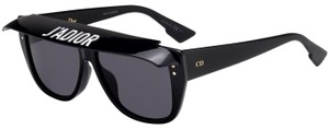 Dior NEW Dior Club2 Black Visor Flat Top Clip On Sunglasses