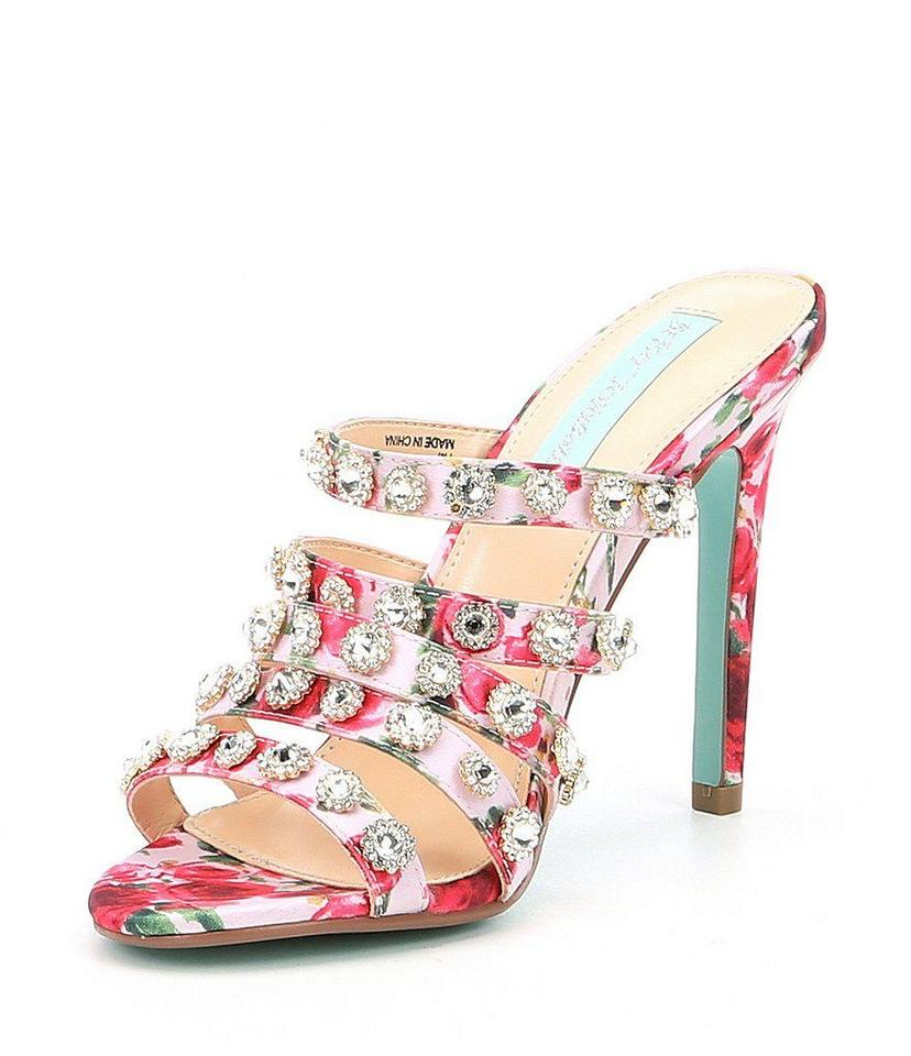3ea81521c34 Betsey Johnson Crystal Diamond Wedding Embellished Floral Multi Pumps Image  0 ...