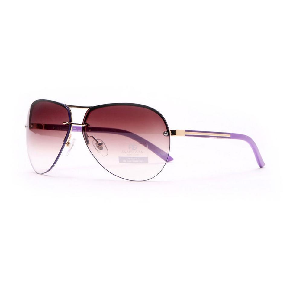 be378be52c Anais Gvani Bags Women s Classic Chic Rimless Sunglasses with Metallic Line  Accent ...