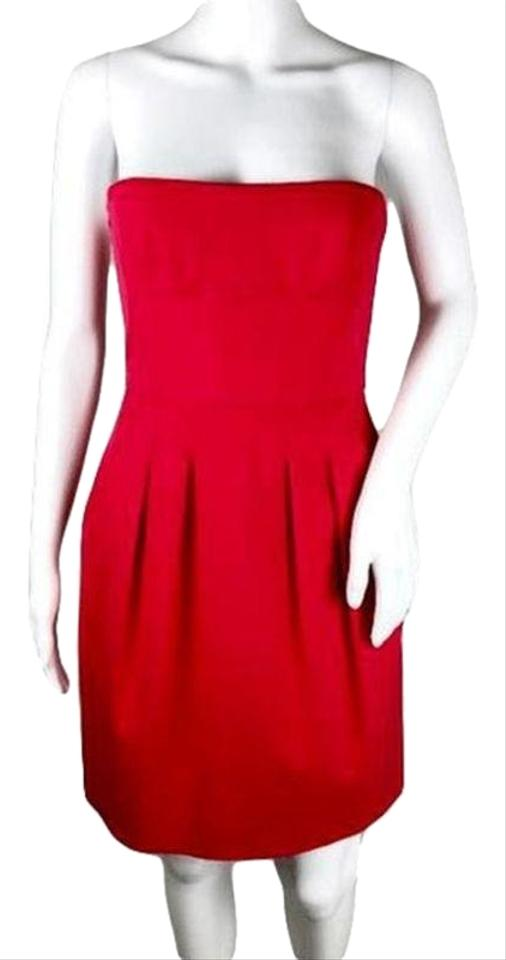 ca59b9506086 BCBGMAXAZRIA Red Womens (Sku 001003-10) Short Cocktail Dress Size 4 ...