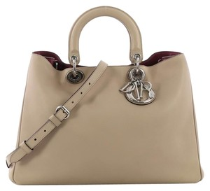 Dior Calfskin Tote in tan