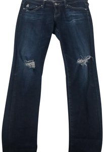 AG Skinny Jeans-Distressed