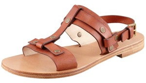 Chloé Studded Leather Casual Tan Sandals