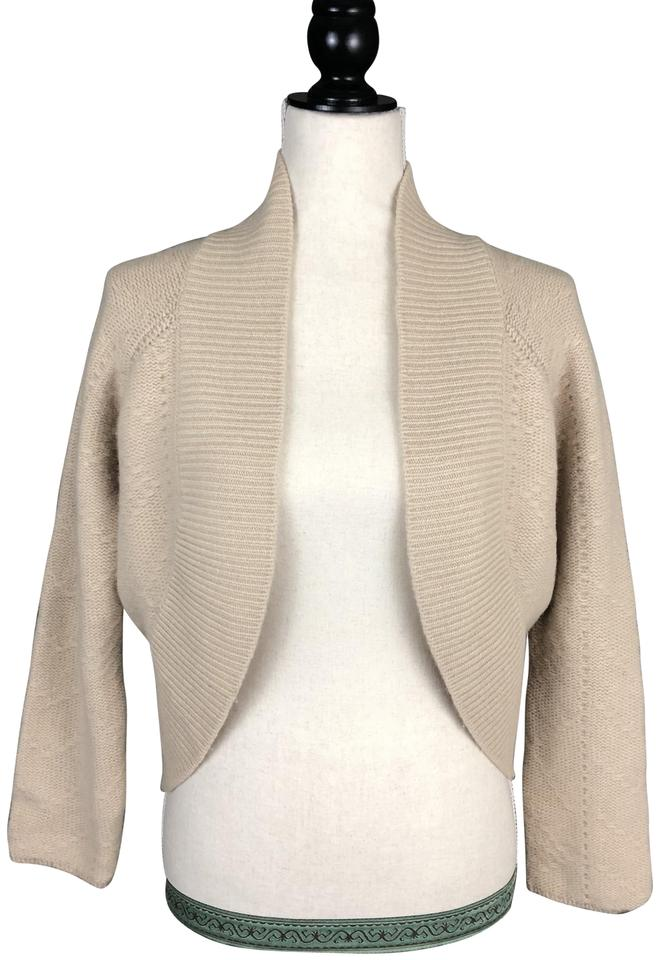 3df6ec3e56960 United Colors of Benetton Cream Wool & Angora Sweater Cardigan Size 4 (S)  73% off retail