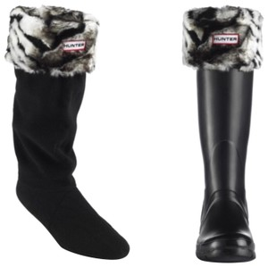 Hunter Tall Welly Socks White Tiger