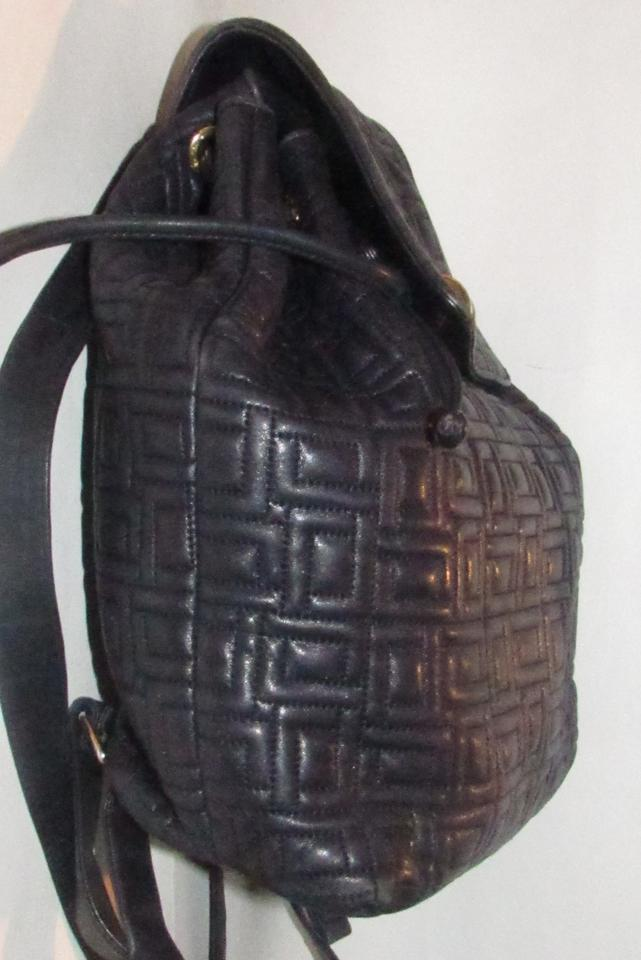 086dcc5556ae Lancel Backpack Designer Purses Quilted Navy Blue Leather Backpack ...