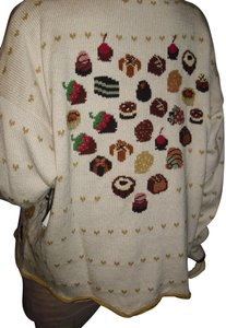 Christine Foley Strawberry Knit Cupcake Knit Designer Sweater Cherry Heart Cardigan