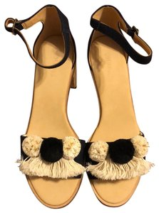 Soludos black ivory and gold Wedges