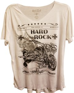 Hard Rock T Shirt white