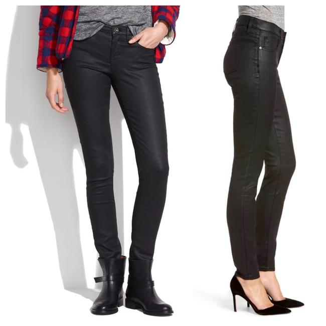 """Item - Black 9"""" High-rise Coated Edition Skinny Jeans Size 2 (XS, 26)"""