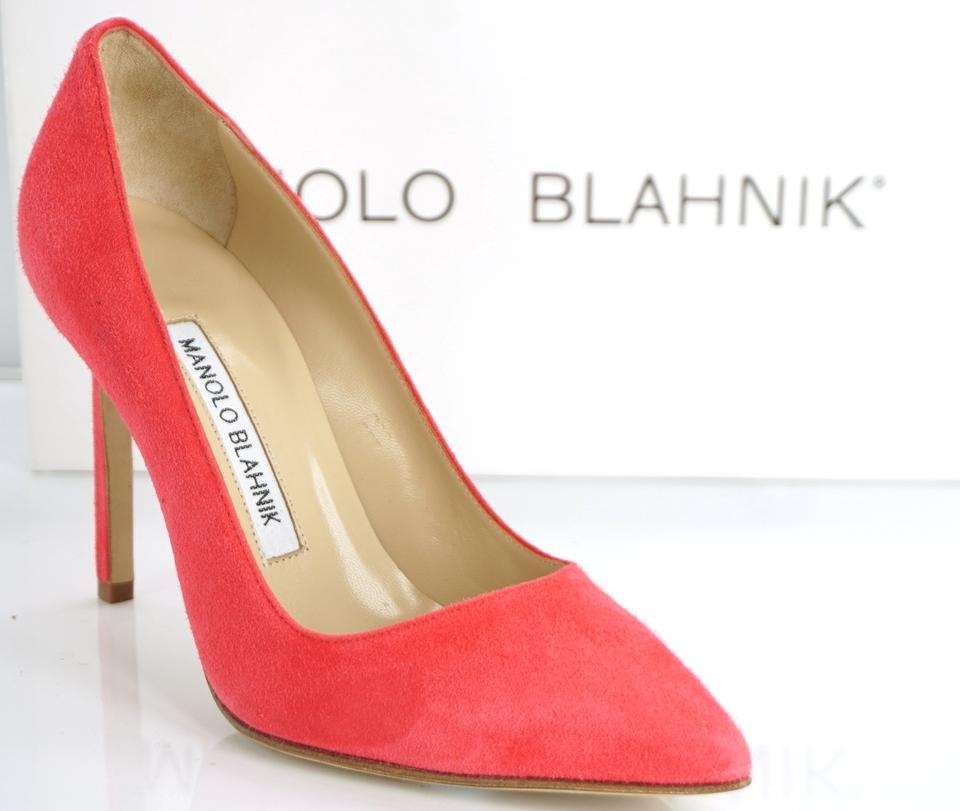 ee82175dcfd5 Manolo Blahnik Pink Suede Bb Pointed Toe Classic High Pumps Size EU 35.5  (Approx. US 5.5) Regular (M