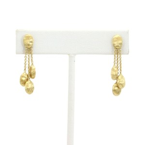 Marco Bicego Siviglia 18k Yellow Gold Triple Strand Bead Dangle Earrings