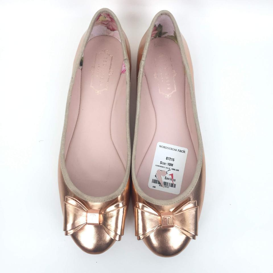 7a5e22cdbd7 Ted Baker Rose Gold Immet Metallic Ballet Flats Size US 9.5 Regular ...