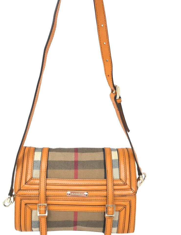fc9a16722 Burberry Clutch Yellow Mustard Canvas Leather Shoulder Bag - Tradesy
