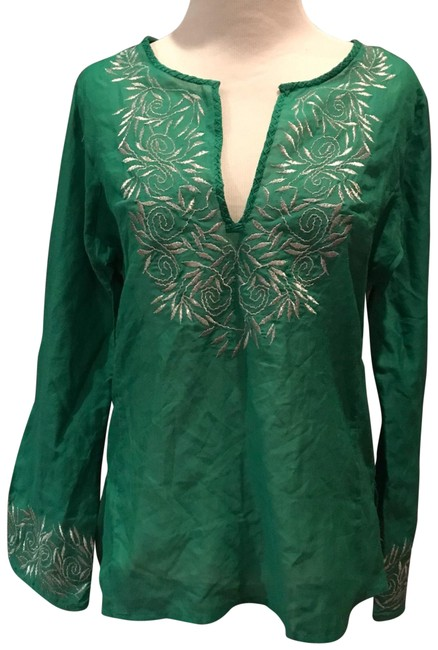 Item - Green Embroidered Tunic Size 2 (XS)
