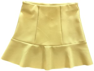 H&M Mini Size Small Elastic Waist Mini Skirt yellow