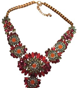 Charming Charlie Floral Statement Necklace