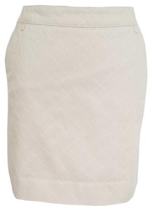 Chanel Quilted Mini Skirt Beige