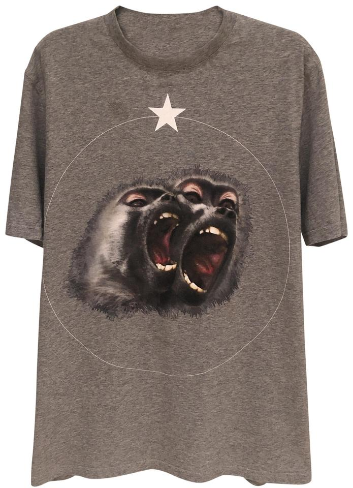 623bbb30 Givenchy Grey Women's Monkey Brothers Printed T-shirt Tee Shirt Size ...