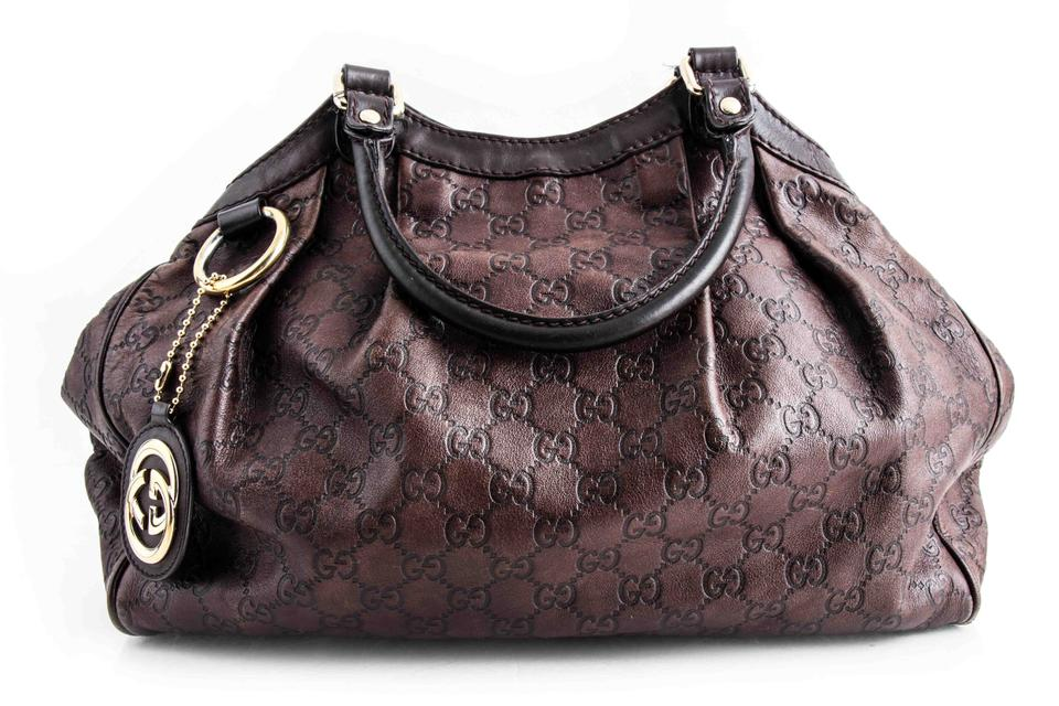 f5187ade6626 Gucci Sukey Guccissima Medium Tote Chocolate Brown Leather Shoulder ...