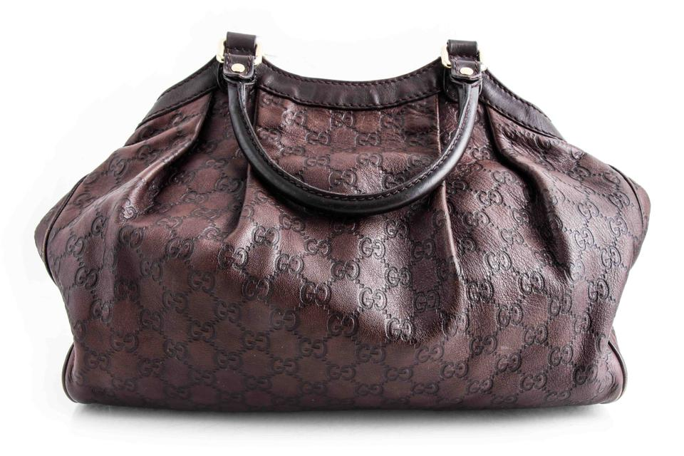 bf7900b2b4f7 Gucci Sukey Guccissima Medium Tote Chocolate Brown Leather Shoulder Bag -  Tradesy