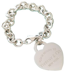 Tiffany Co Please Return To Extra Large Heart Tag Toggle Bracele