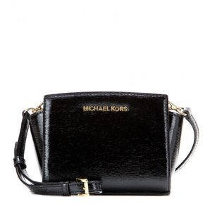 Michael Kors Leather 888235395692 Black Messenger Bag