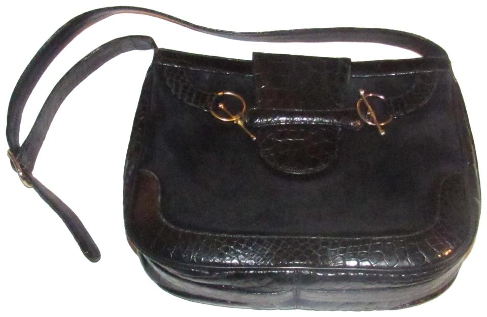 74246623e660 Gucci Hobo/Shoulder Equestrian Accents Snaffle/Saddle Mint Vintage Early  Style Hobo Bag Image ...